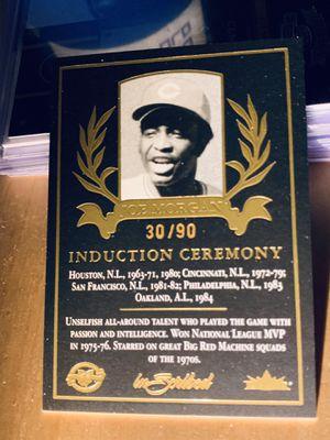 2004 fleer Inscribed Joe Morgan Indiction Ceremony Super Short Print 30/90 HOF Reds, Astro's, Giants, Phillies and Athletics for Sale in San Diego, CA