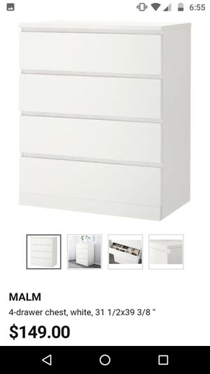 MALM Ikea 4-drawer Dresser for Sale in Columbus, OH