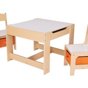 Senda Kids' Wooden Storage Table and Chairs Set, 3 Piece for Sale in Mount Laurel Township, NJ
