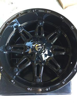 "Brand New 20"" Inch Fuel Hostage Gloss Black 20X10 Wheels Rims Rines Aros 6X135 6X5.3 6X139.7 6X5.5 GM for Sale in Austin, TX"