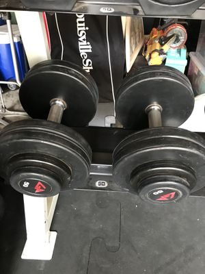 GP Urethane Rubber Coated Dumbbells (2x50s) for $100 Firm!!! for Sale in Burbank, CA