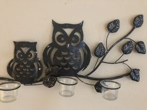 Metal Owl wall decor for Sale in Raleigh, NC