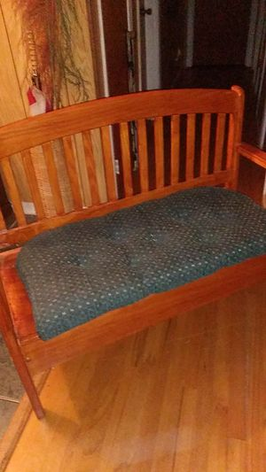 Wooden Storage Bench with Cotton Cushion $30 for Sale in Durham, NC