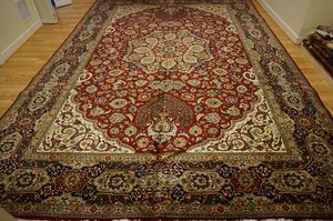 Large One of A Kind signed Persian Tabriz rug 10'x 15' for Sale in Rockville, MD