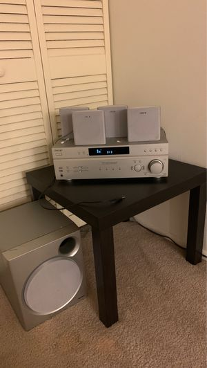 Table with a Sony stereo system for Sale in Elk Grove Village, IL