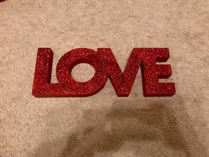 Love Glitter Sign, Room Decor/Art for Sale in Marietta, GA