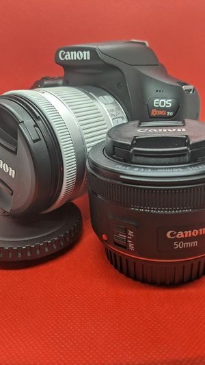 Canon Rebel T6 Bundle   50mm + 18-55mm Lens, (3) Batteries & 64GB SD for Sale in Baldwin, NY