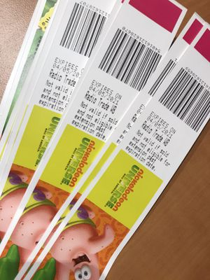 MOA Nickelodeon Universe wristbands & Moose Mt. tickets for Sale in Aurora, IL