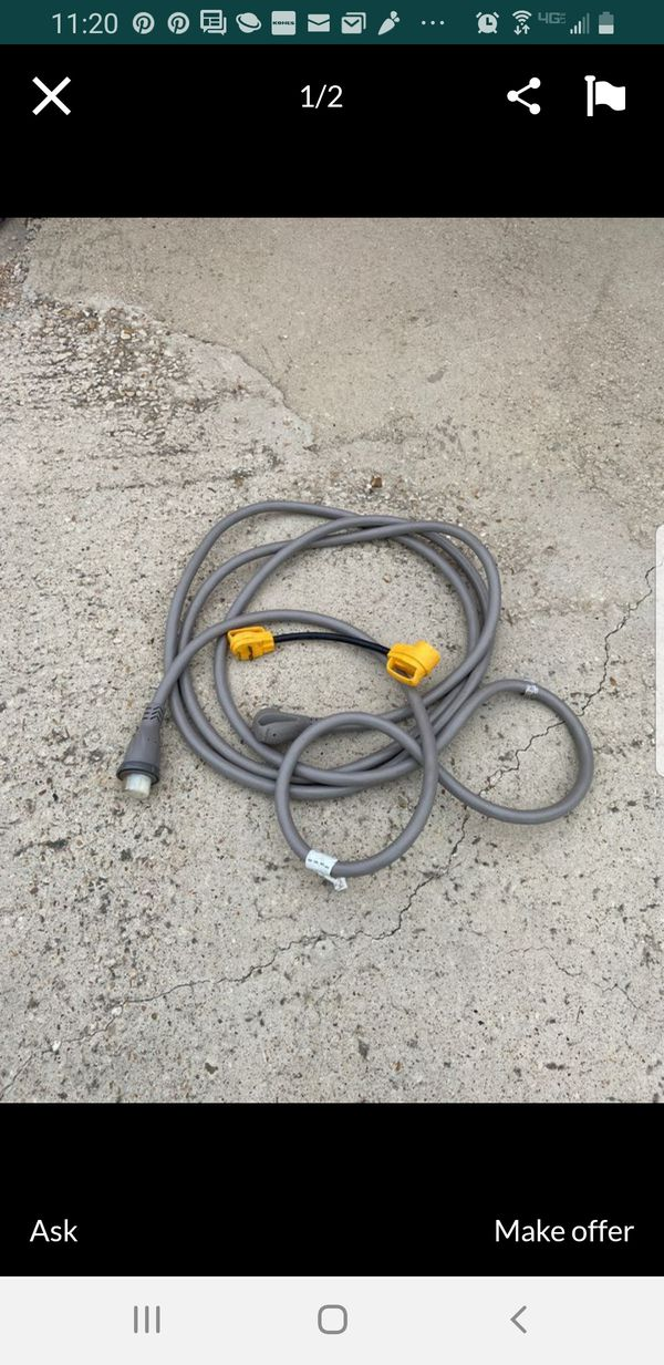 30 Feet of 50 Amp rv cable and an adapter