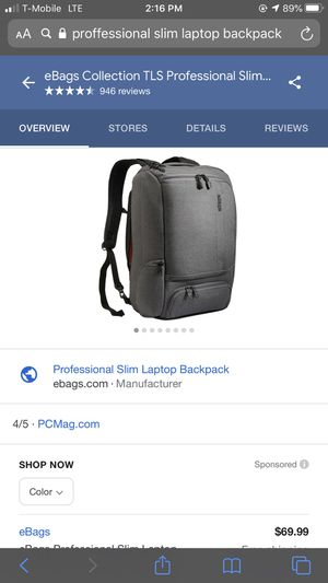 Professional slim laptop backpack new for Sale in San Francisco, CA
