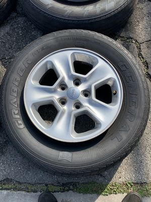 """17"""" Jeep OEM Wheels + General Tires for Sale in Cypress, CA"""