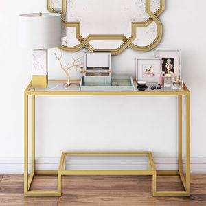 Athena Geometric Luxe Console Table in Gold 6A-9701 for Sale in St. Louis, MO