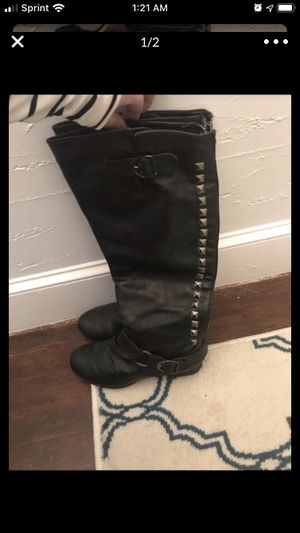 Tall black boots size 6 for Sale in Malden, MA