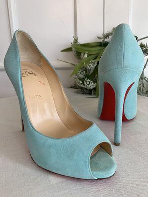Christian louboutin suede peep toe classic size 39.5 for Sale in Phoenix, AZ