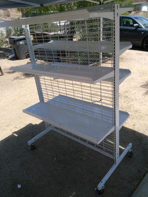 Industrial metal shelves on caster's for Sale in Menifee, CA