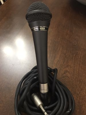 Pioneer Dynamic microphone with XLR cable 15' for Sale in Miami, FL