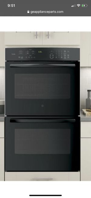 """GE profile 30"""" double wall oven black for Sale in Tustin, CA"""