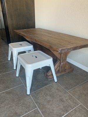 Farmhouse play table for kids with chairs for Sale in Bixby, OK