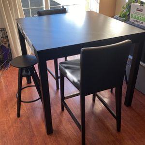 Pick Up Pending Ikea Black Dining Table Set for Sale in Milwaukie, OR