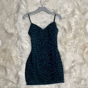Leopard green mini dress for Sale in Glendale, AZ