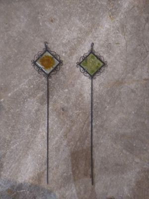 2 decorative garden spikes for Sale in Medina, OH