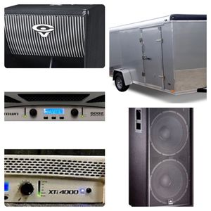 Dj Pro Audio Equipment and Trailer for Sale in Houston, TX