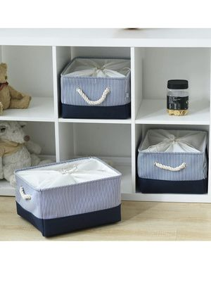3x storage bins baskets with handle for Sale in Marion, NC