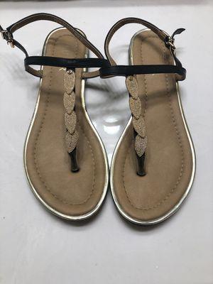 Black/gold boutique sandals for Sale in Baton Rouge, LA