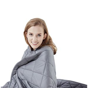 """Hypnoser Weighted Blanket Twin Size (15 lbs 48""""x72"""" ) for Kids and Adults 
