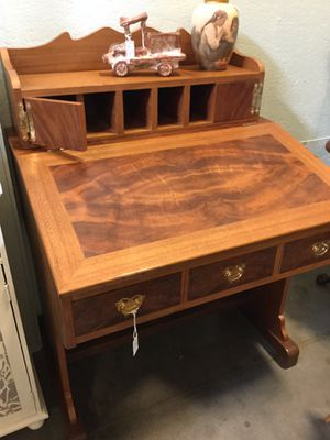 Slant lid secretary desk with drawers + cubbies for Sale in Goodyear, AZ