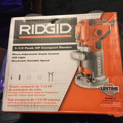 Ridgid 1 1/2 Peak HP Compact Router for Sale in East Wenatchee,  WA