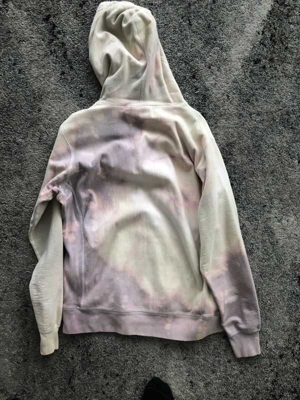 Overdyed & Bleached Supreme Bling box Logo Hoodie large