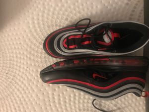 Nike Air Max 97 (Black, Red and Silver) for Sale in Brandon, MS