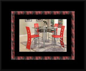 Red counter height table with 4 chairs for Sale in Fairfax, VA