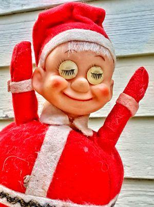 1960s mid century modern red felt santa pin cushion figurine made in japan for Sale in Saginaw, MI