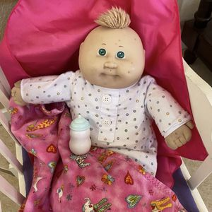 """Cabbage Patch Kid Vintage Doll 1978 1982 Preemie Bald Green Eyes 14"""" for Sale in Chula Vista, CA"""