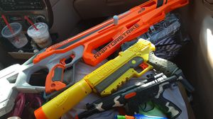 Four toy guns 3 are nerf guns for Sale in Lehigh Acres, FL