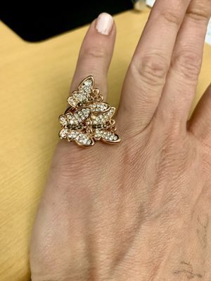 Butterfly Pave Stone Rose Gold Plated Ring Sz 6 for Sale in Charleston, SC