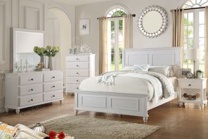 Brand new white/black/brown king bed frame, dresser, mirror, nightstand for Sale in San Diego, CA