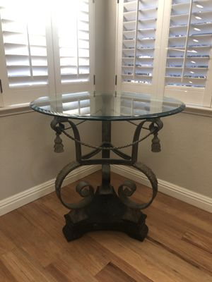 High end glass, iron, and marble end table for Sale in Fresno, CA