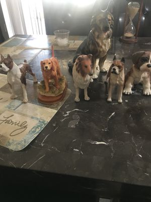 Glass dogs set of 6 for Sale in Phoenix, AZ