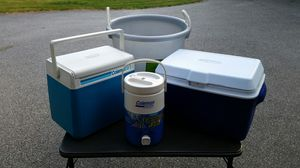 Coolers and beverage tub for Sale in Bay City, MI