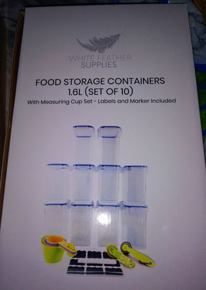 Food Storage Containers w stickers for Sale in Orlando, FL