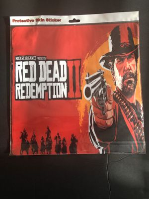 PS4 SLIM PROTECTIVE SKIN STIKER, RED DEAD REDEMPTION II for Sale in March Air Reserve Base, CA