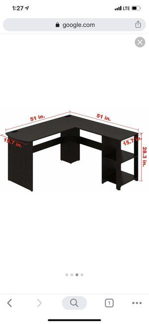 SHW L-Shaped Home Office Wood Corner Desk, Espresso for Sale in Houston, TX