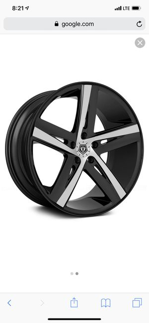 """20"""" Costume rims and tires. for Sale in Cape Coral, FL"""
