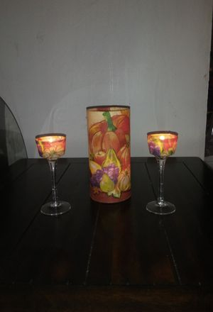 Fall/Thanksgiving Candle Holders Decor for Sale in Bell, CA