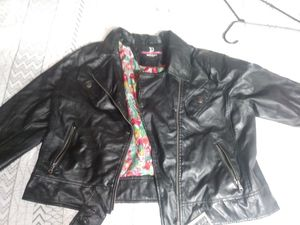 Black Pleather Jacket for Sale in Price, UT