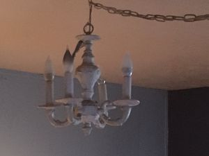 White Shabby chic chandelier for Sale in Dayton, OR