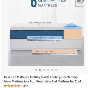 Mollbly 6 Inch Twin Mattress for Sale in Glendale, AZ